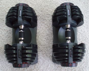 bowflex adjustable dumbells