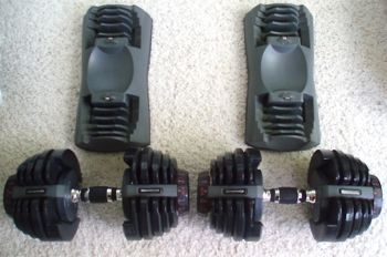 bowflex dumbbels base weights
